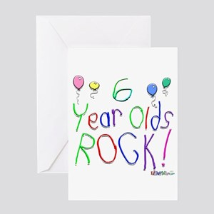 6 Year Olds Rock Greeting Card