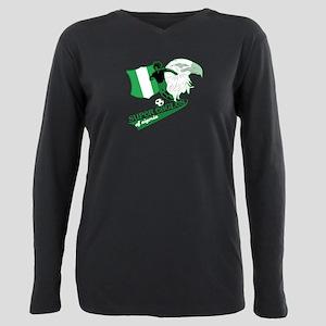 Super Eagles Nigeria Plus Size Long Sleeve Tee