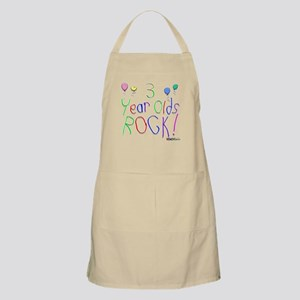 3 Year Olds Rock ! BBQ Apron