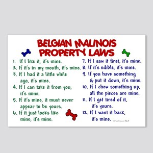 Belgian Malinois Property Laws 2 Postcards (Packag
