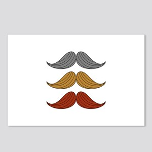 retro moustaches Postcards (Package of 8)
