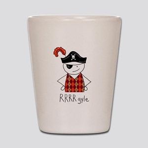 RRRR-gyle Pirate the Trendy Argyle Pira Shot Glass