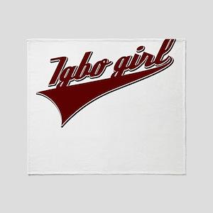 Igbo girl Throw Blanket