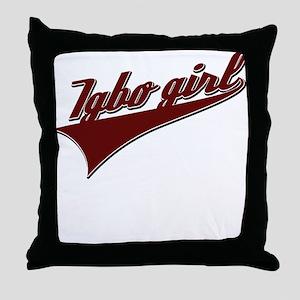 Igbo girl Throw Pillow