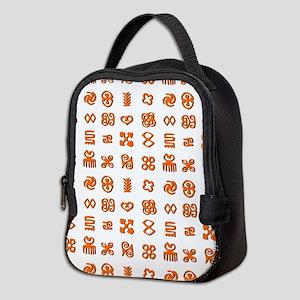 Adinkra Symbols in Orange And B Neoprene Lunch Bag