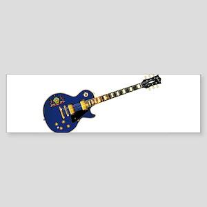 Pennsylvania State Flag Guitar Bumper Sticker