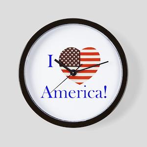 I Love America! Wall Clock