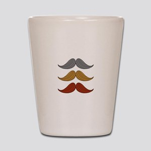 retro moustaches Shot Glass