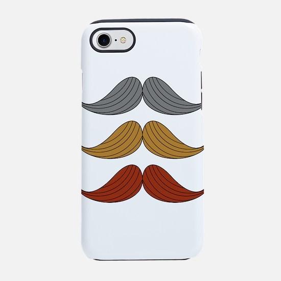 retro moustaches iPhone 8/7 Tough Case