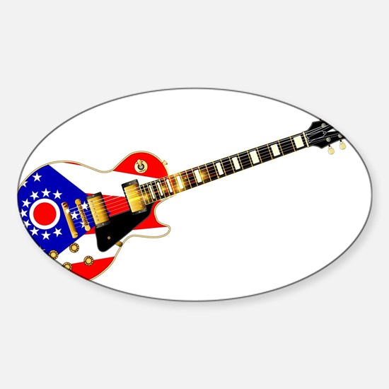 Ohio State Flag Guitar Decal