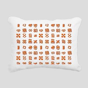 Adinkra Symbols in Orang Rectangular Canvas Pillow