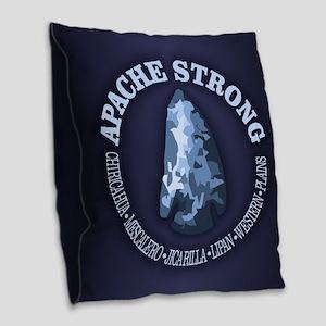 Apache Strong Burlap Throw Pillow