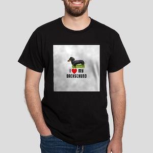 I Love My Dachschund Dark T-Shirt