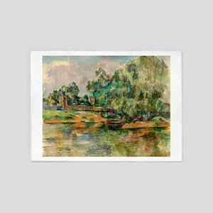 Riverbank by Paul Cézanne 5'x7'Area Rug