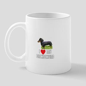 I Love My Dachschund Mug