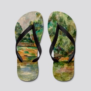 Riverbank by Paul Cézanne Flip Flops