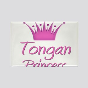 Tongan Princess Rectangle Magnet