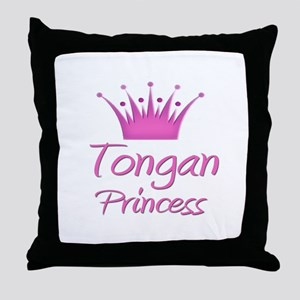Tongan Princess Throw Pillow