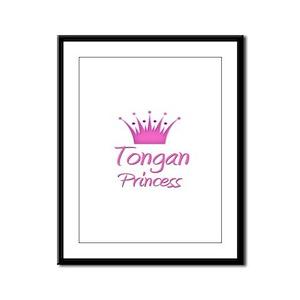 Tongan Princess Framed Panel Print