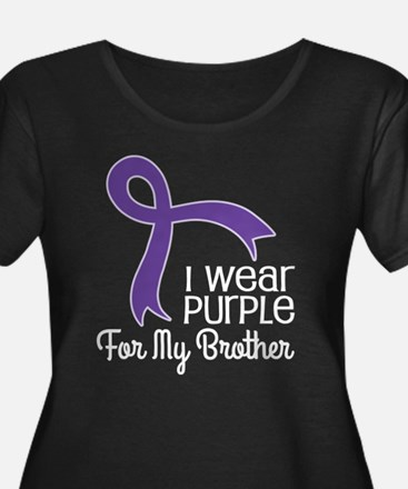 Wear Purple For My Brother Plus Size T-Shirt