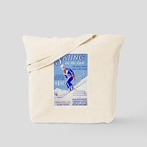 Ski Skiing Skier Tote Bag