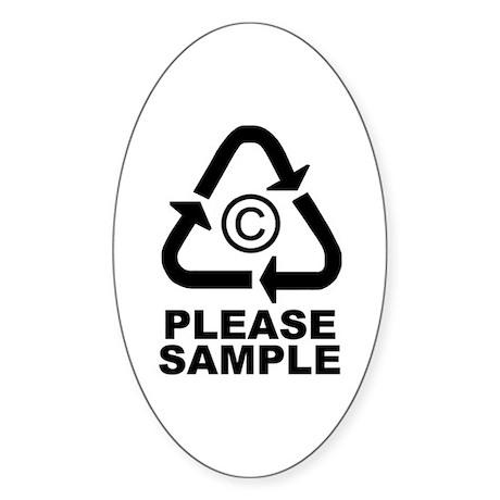 please sample Oval Sticker