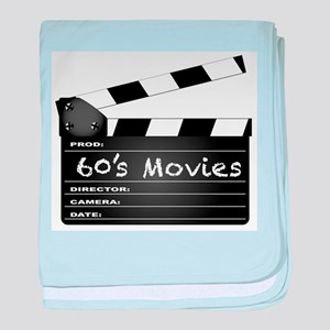 60's Movies Clapperboard baby blanket