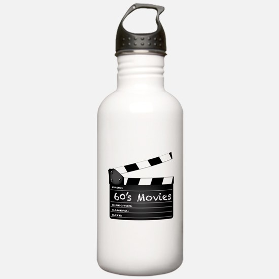60's Movies Clapperboa Water Bottle
