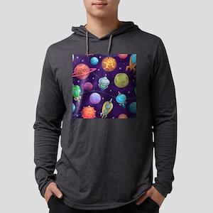 Cute Space Mens Hooded Shirt
