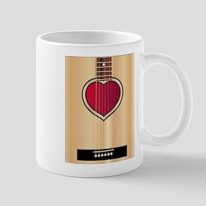 Love Acoustic Guitar Mugs