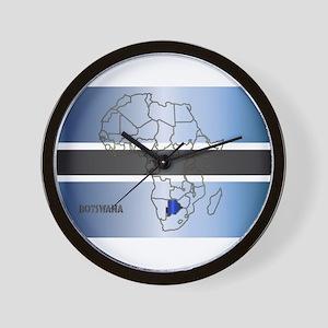 Botswana Isolated On Map Wall Clock