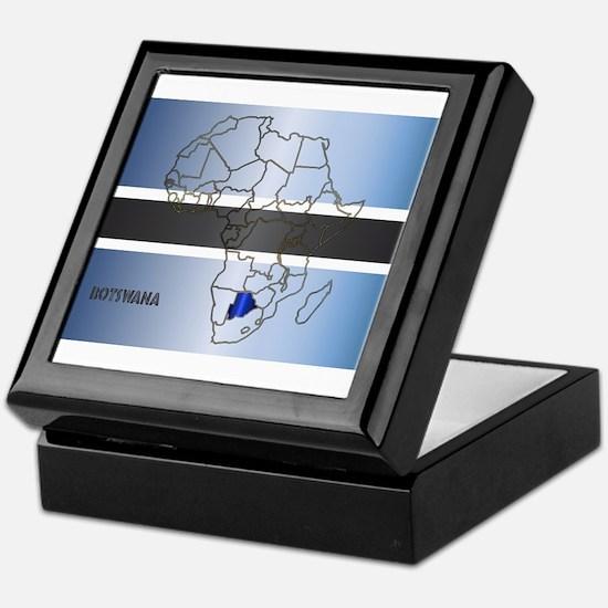 Botswana Isolated On Map Keepsake Box