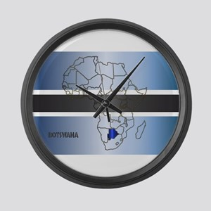 Botswana Isolated On Map Large Wall Clock