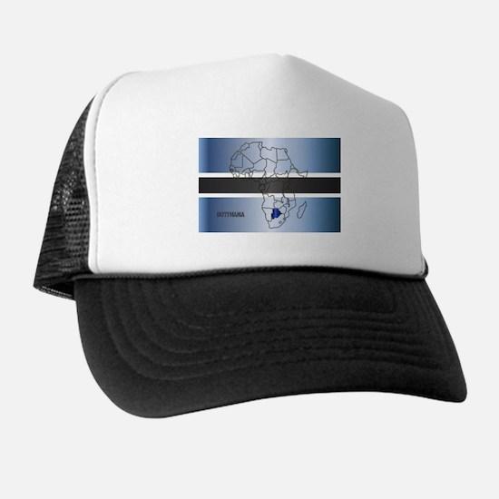 Botswana Isolated On Map Trucker Hat