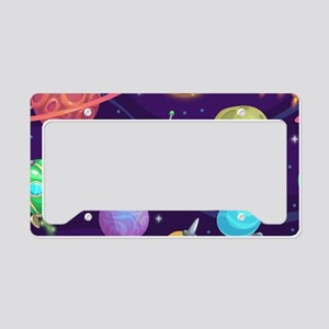 Cute Space License Plate Holder