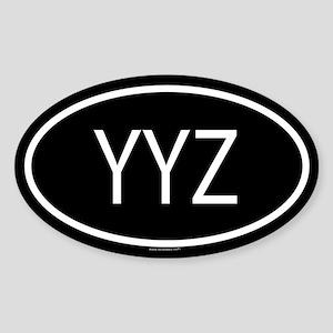 YYZ Oval Sticker