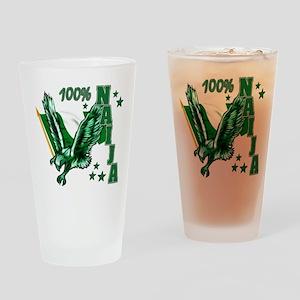100% Naija Drinking Glass