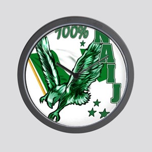 100% Naija Wall Clock