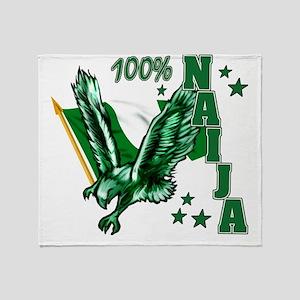 100% Naija Throw Blanket