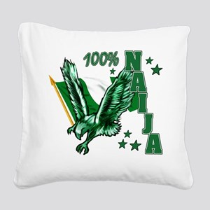 100% Naija Square Canvas Pillow