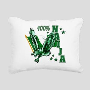100% Naija Rectangular Canvas Pillow