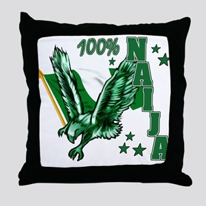 100% Naija Throw Pillow