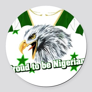 Proud to be Nigerian Round Car Magnet