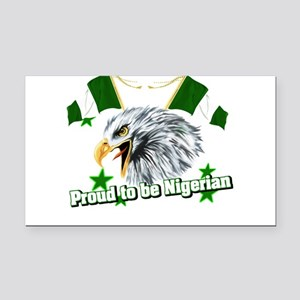 Proud to be Nigerian Rectangle Car Magnet