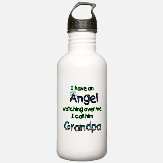 I HAVE AN ANGEL GRANDPA.png Water Bottle
