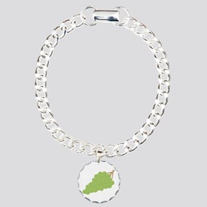 bunch of grapes Charm Bracelet, One Charm