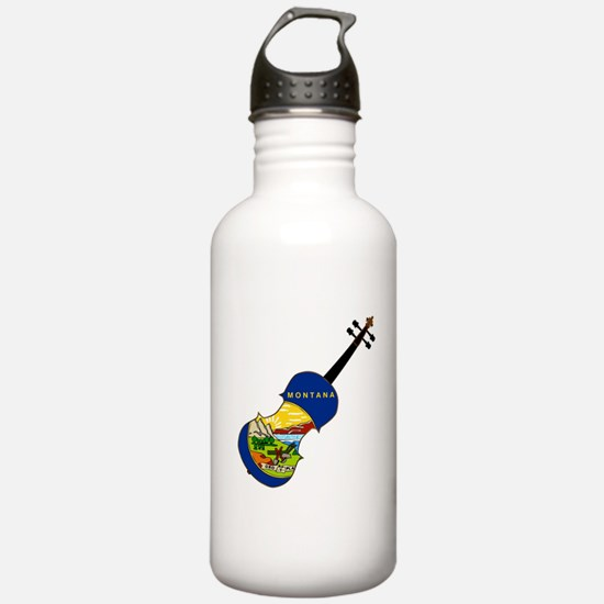 Montana State Fiddle Water Bottle