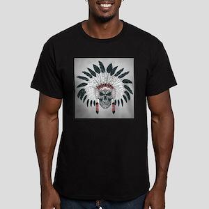Indian Skull Men's Fitted T-Shirt (dark)