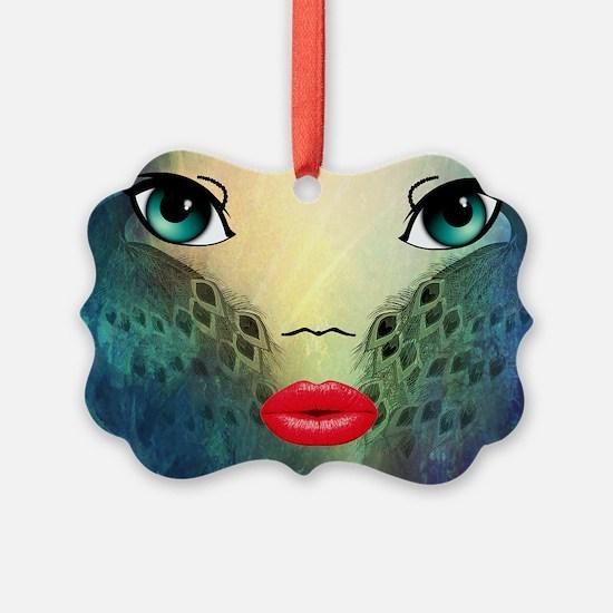 Unique Big lips Picture Ornament
