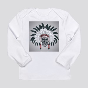 Indian Skull Long Sleeve Infant T-Shirt